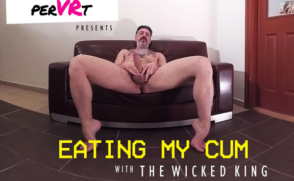 Eating My Cum - Solo Guy Jerking Off